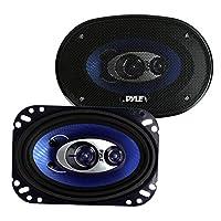 Pyle 4-Inch 6-Inch 240-Watt 3 Way Speakers for Multi - Blue - PL463BL