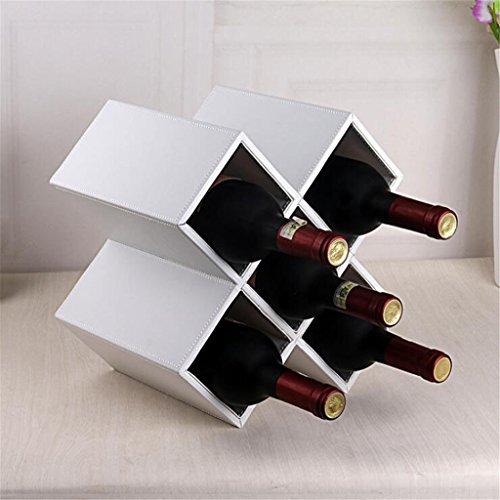 Madaye Fünf Gitter Holz Weinregal Europäische kreativ Mode Leder Wein Rack 28*20*28cm