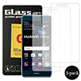 Pellicola Vetro Temperato Huawei P10 Lite, Hanbee [3 Pack] Pellicola Protettiva in Vetro Temperato Per Huawei P10 Lite, 99%HD, Vetro con Durezza 9H, Spessore di 0.33mm immagine