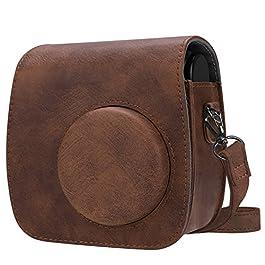 Fintie Protettivo Polaroid PIC-300 / Fujifilm Instax Mini 7s Custodia-PU Custodia Borsa In Pelle per Polaroid PIC-300 / Fujifilm Instax Mini 7s Fotocamera Istantanea,