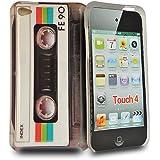 Accessory Master E52 Housse pour Apple iPod Touch 4 Noir 'Cassette'