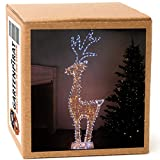 3D-Rentier XXL 150 cm, 562 LED, warm-/kaltweiß, Weihnachten Beleuchtung außen