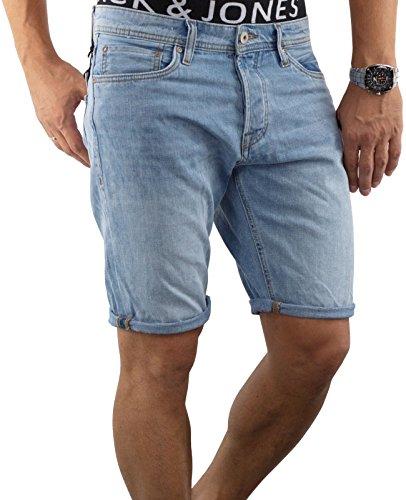 JACK & JONES Herren Short jjiRICK 113/114 Jeansshort kurze Hose Regular Fit (L, Blau (Blue Denim Fit:REG jjiRICK 114))