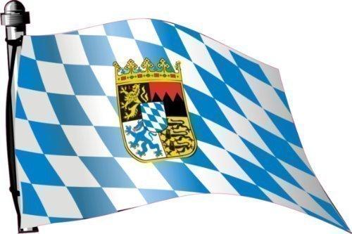 Aufkleber Flagge Deutschland Bayern wehend 30 x 20cm