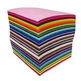88Pcs Filzstoff Farbig Bastelfilz Steif Vliesstoff DIY