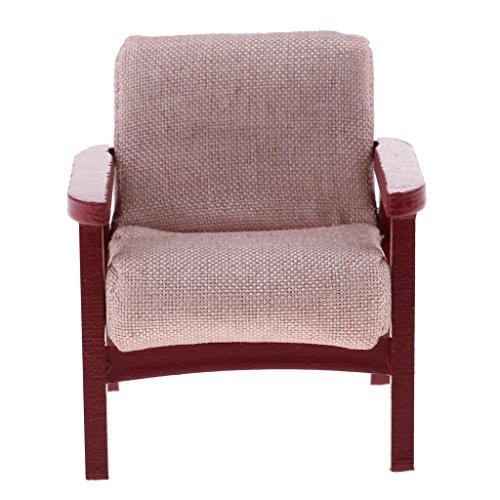 MagiDeal 1/12 Puppenhaus Wohnzimmer Möbel - Miniatur Einzigen Sofa Sessel Ohrensessel Stuhl - 6.5 *...