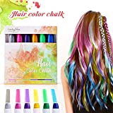 Hair Pastello, Luckyfine 6 colori Wearable Hair Chalk Set Metallic Glitter...