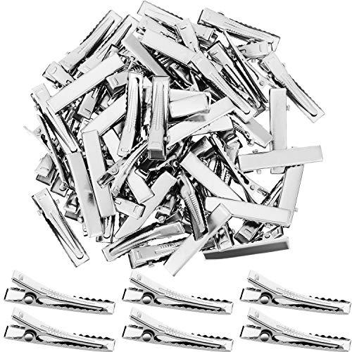 Alligator Haarspangen Metall Ente Bill Haarspangen Flat Top Single Prong Haarnadeln für Haar Styling DIY Zubehör (200 Pieces)