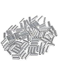 MagiDeal 100 Stück Einzel 1.0mm Angeln Zubehör Klemmhülsen korrosionsbeständig Angelausrüstung