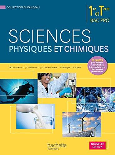 Sciences physiques et chimiques 1re terminale Bac ...