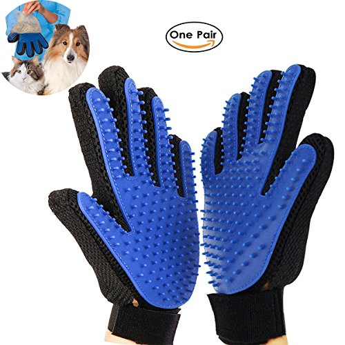 RCRuning-EU bürsten handschuh für hunde katze, Dog Grooming Glove, Pet Hair Brush for Dog Cat...