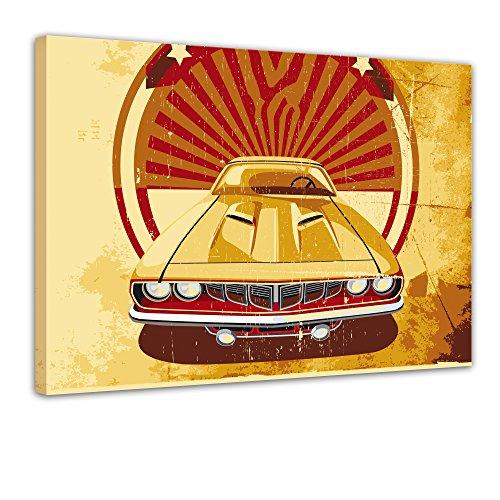 Keilrahmenbild - American Style II - Bild auf Leinwand - 120x90 cm 1 teilig - Leinwandbilder - Urban & Graphic - Amerika - Symbol - Retro - Vintage