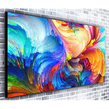 150 x 50 cm Canvas Art Background Abstract Pixel Red Green