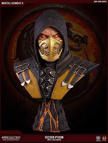 Unbekannt Mortal Kombat X Bust 1/1 Scorpion Hellfire Exclusive 76 cm Culture Shock Busti