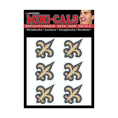 Wincraft 6er Gesicht Aufkleber 3cm - NFL New Orleans Saints -