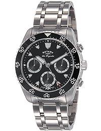 Giratorio Legacy Ocean – Mono de hombre reloj de cuarzo con cronógrafo negro y plata pulsera de acero inoxidable gb90170/04