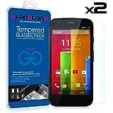 PACK 2 UNIDS - 2 x Film Protector pantalla de cristal templado Premium para Motorola Moto G 3ª Generacion