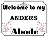 SIGNS 2 ALL Welcome to My Abode Anders Vintage Stil Metall Wandschild (4796)–Größe ca 280mm x 205mm