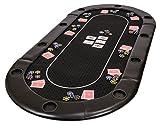 Riverboat Gaming Classic faltbare Pokerauflage mit schwarz wasserabweisenden...