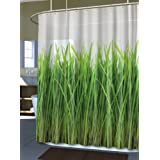 Delightful Splash Home EVA Shower Curtain, 70 By 72 Inch, Grass Green