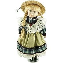 Cosette 40,6cm nuovo raccogliere trecce bambola porcellana verde pisello principessa Angel Girl Hot vendita