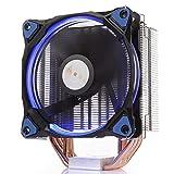 GOLDEN FIELD PHUBOSS Z4 CPU-Kühler Prozessorkühler mit 5 Heatpipes & 120MM PWM LED Lüfter Low Noise CPU Luftkühler Kühler für Intel & AMD Sockel
