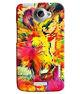 Blue Throat Multicolor Prism Printed Designer Back Cover For HTC One X