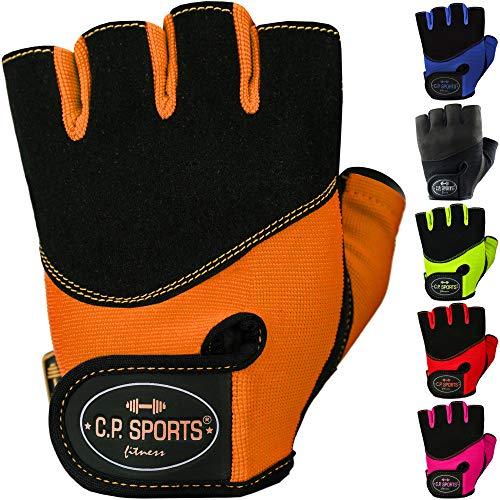 C.P. Sports Iron-Handschuh Komfort Trainingshandschuh Fitness Handschuhe für Damen und Herren (Neonorange, M/8 = 18-20cm)