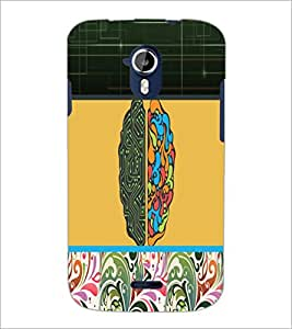PrintDhaba Abstract Design D-5738 Back Case Cover for MICROMAX A116 CANVAS HD (Multi-Coloured)
