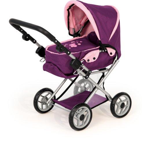 Bayer Design 1395700 - Kombi Puppenwagen Maxi Butterfly Pflaume