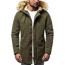 6d585ccf97ac OZONEE Herren Winterjacke Parka Jacke Kapuzenjacke Wärmejacke Wintermantel  Coat Wärmemantel Warm Modern Camouflage Täglichen ...
