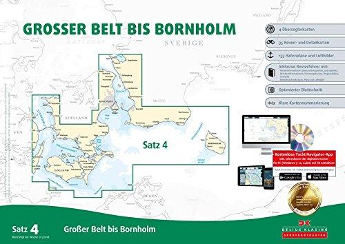Sportbootkarten Satz 4: Großer Belt bis Bornholm (Ausgabe 2018) (Satz Vier)
