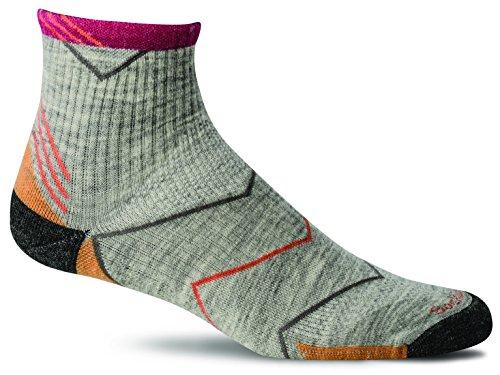 Merino Wolle Quarter Socken (Sockwell Damen Steigung Quarter mittel (15-20mmHg) Abgestufte Kompression Socken, Damen, hellgrau)
