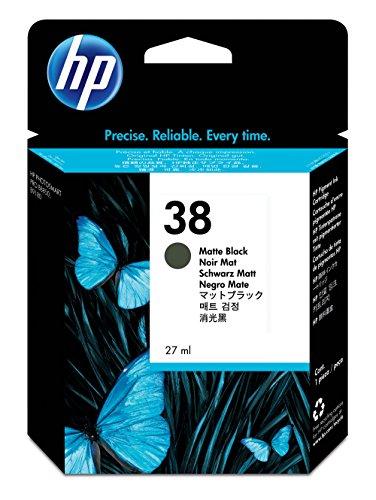 HP 38 Cartouche d'encre d'origine Vivera Pigmenté HP Photosmart Pro B8850, B9180 Noir Mat
