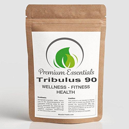 TRIBULUS-90 - 240 Tabletten (Vegan) | ULTRA HOCHDOSIERT | 120 Portionen a 1000mg (4 Monatsversorgung) / 90% Saponin-Gehalt, TESTOSTERON-BOOSTER, für die Unterstützung des Testosteronhaushaltes, Potenz + Libido, sowie Muskelaufbau, Energie und Vitalität | Premium Qualität