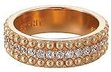 ESPRIT Damen-Ring 925 Sterling Silber rhodiniert Kristall Zirkonia Pellet rose weiß