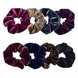#8: New 10pcs Velvet Elastic Hair Ropes Scrunchies Hair Ties Women Hair Accessories