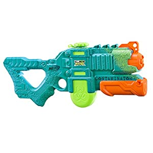 Nerf Contaminator 0.709L Pistola de Agua - Pistolas de Agua (0,709 L, Pistola de Agua, Integrado, 11 m, Verde, Naranja, 6 año(s))