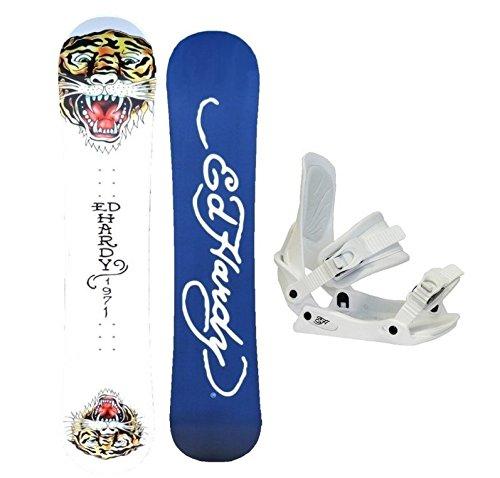 EdHardy Snowboardset inkl. Bindung (Woodcore) 158cm