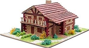 Keranova- Kit de cerámica Casa Montañesa, Color marrón (30215)