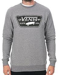 Vans Herren Burkett steinig Grafik-Logo-Sweatshirt, Grau