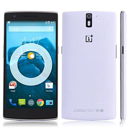 OnePlus One (Qualcomm Core, 5,5pollici/14cm, LTPS Display, 3GB RAM, 16GB ROM, 13MP, 4G, FDD-LTE, OTG, NFC, Miracast) Bianco