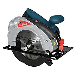 Silverline Silverstorm 285873 Scie circulaire Laser 185 mm 1400 W