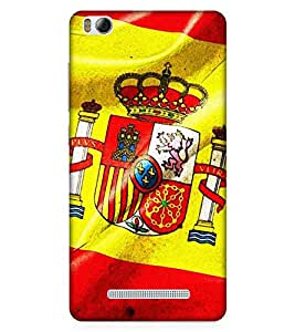 For Xiaomi Redmi 4A red icon, icon, taj, yellow background, crown, lion, fort Designer Printed High Quality Smooth Matte Protective Mobile Case Back Pouch Cover by APEX