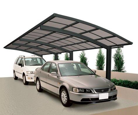 XIMAX Aluminium Design-Carport Portoforte Tandem-Ausführung Typ 80 Mattbraun