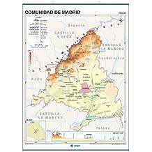 Comunidad de Madrid, f'sico / pol'tico: Mapas Póster ()