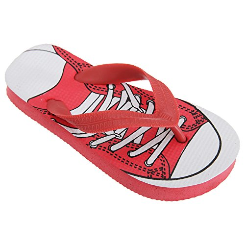 Floso® Childrens Boys Lace Up Trainer Design Toe Post Flip Flops