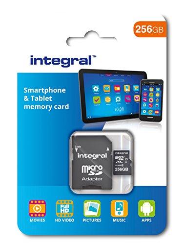 Integral 256GB microSDXC Class 10Speicherkarte für Smartphone und Tablet