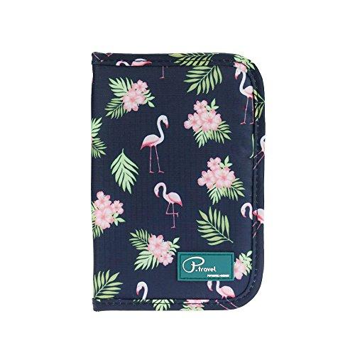 e Passport mit RFID Schutz Ausweistasche Kreditkarten Halter Aufbewahrungstasche Reisemappe Reisebörse für Damen und Herren (Flamingo) ()