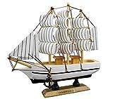 Sonia Originelli Modellschiff Segelschiff Schiffsmodell Piratenschiff Segelboot Standmodell Holz ca. 15,5 cm fertig DA043 (Modell 4)